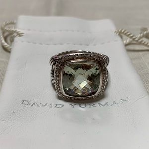 DAVID YURMAN 14mm Prasiolite Diamond Ring